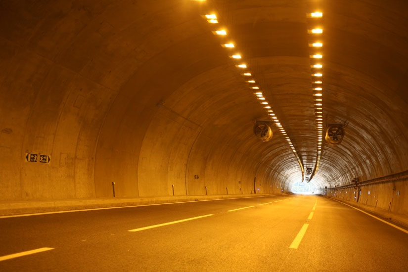 Construction of Covelo Tunnel