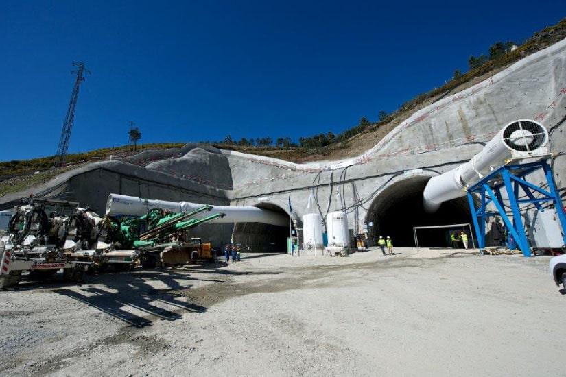 Troço nascente do Túnel do Marão, Vila Real