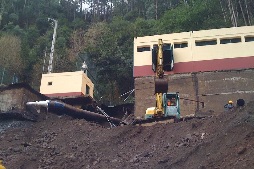 Sistema aductor de la galería de Porto Novo, Madère