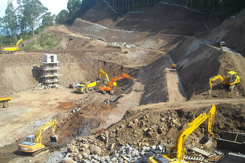 Construction of Portela Lagoon, Madeira