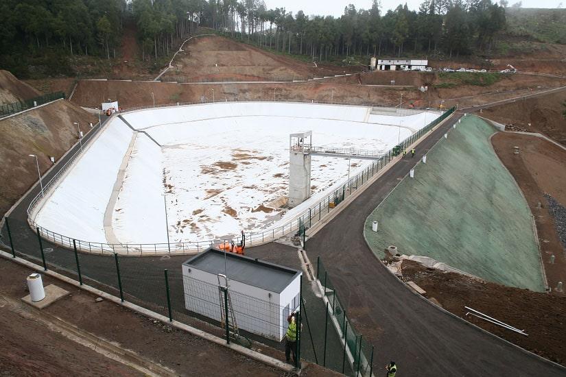 Construction de la lagune de Portela, Madère