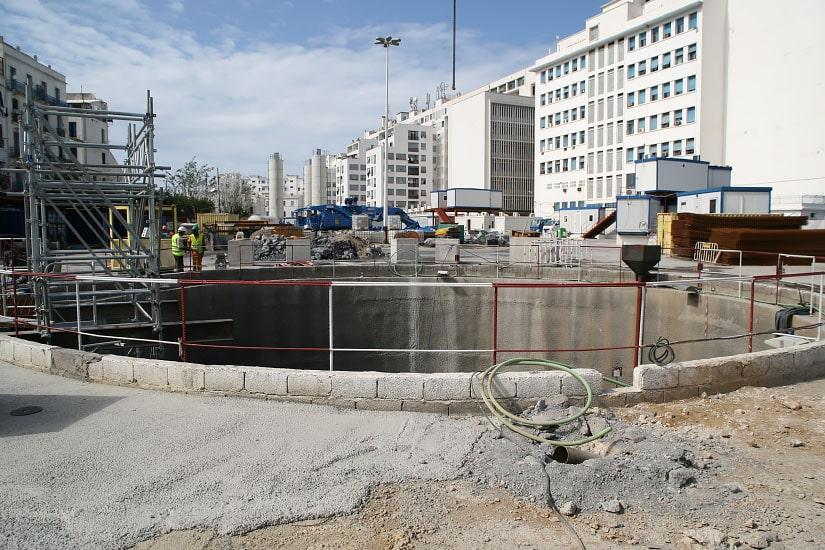 Travaux pour la Ligne et stations du tronçon, Argel
