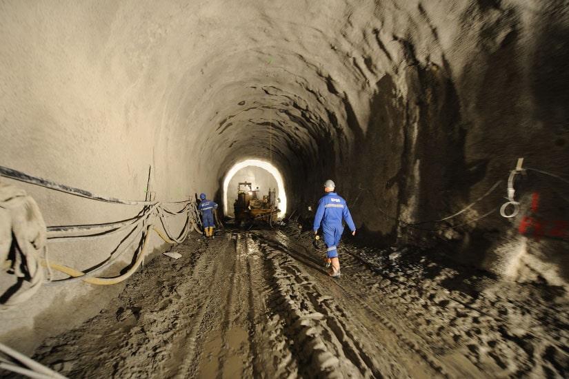 Túnel de la presa de Foz Tua