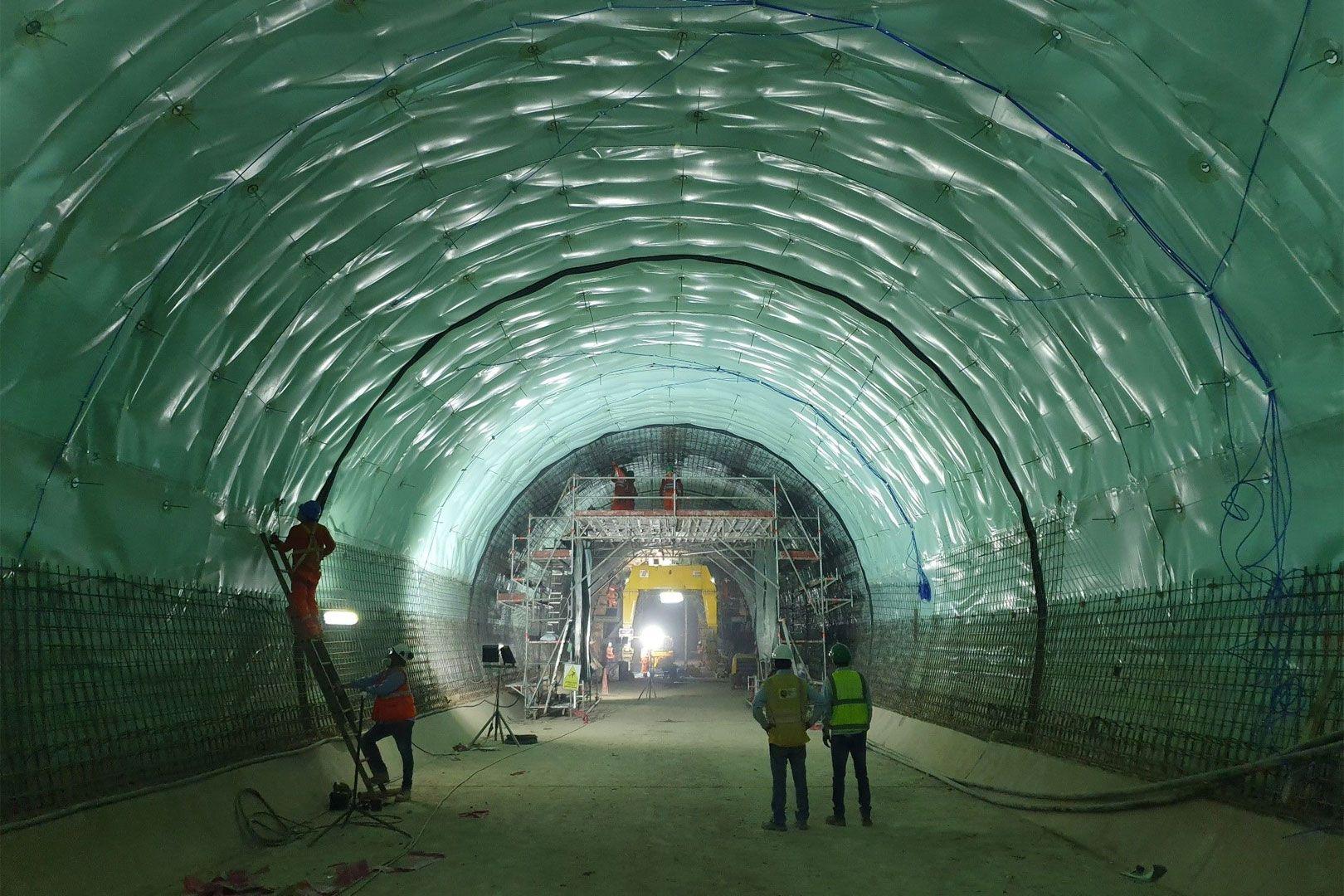 Tunnel du métro de Lima, phase 1B (construction)