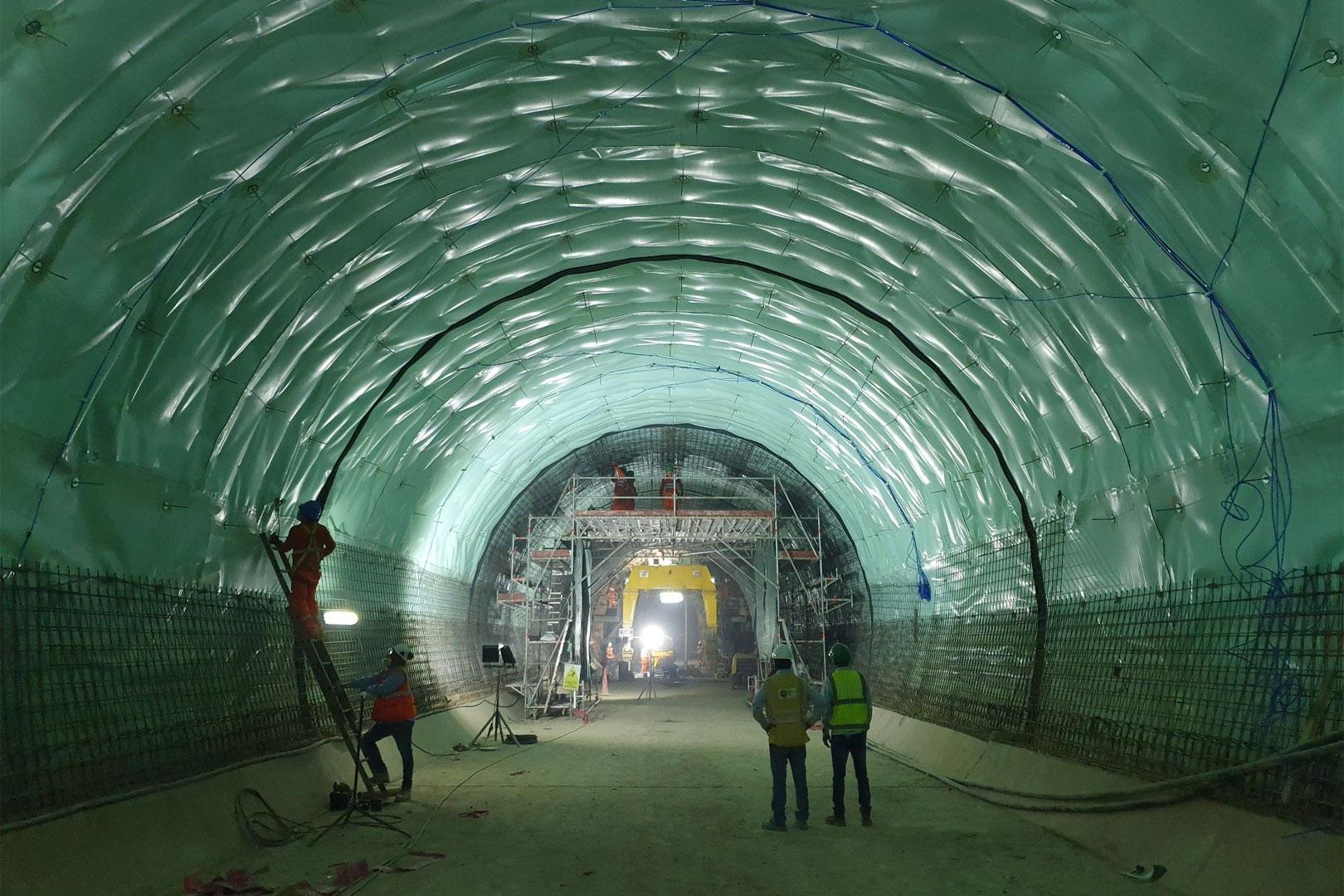 Túnel Metro de Lima etapa 1B (construção)